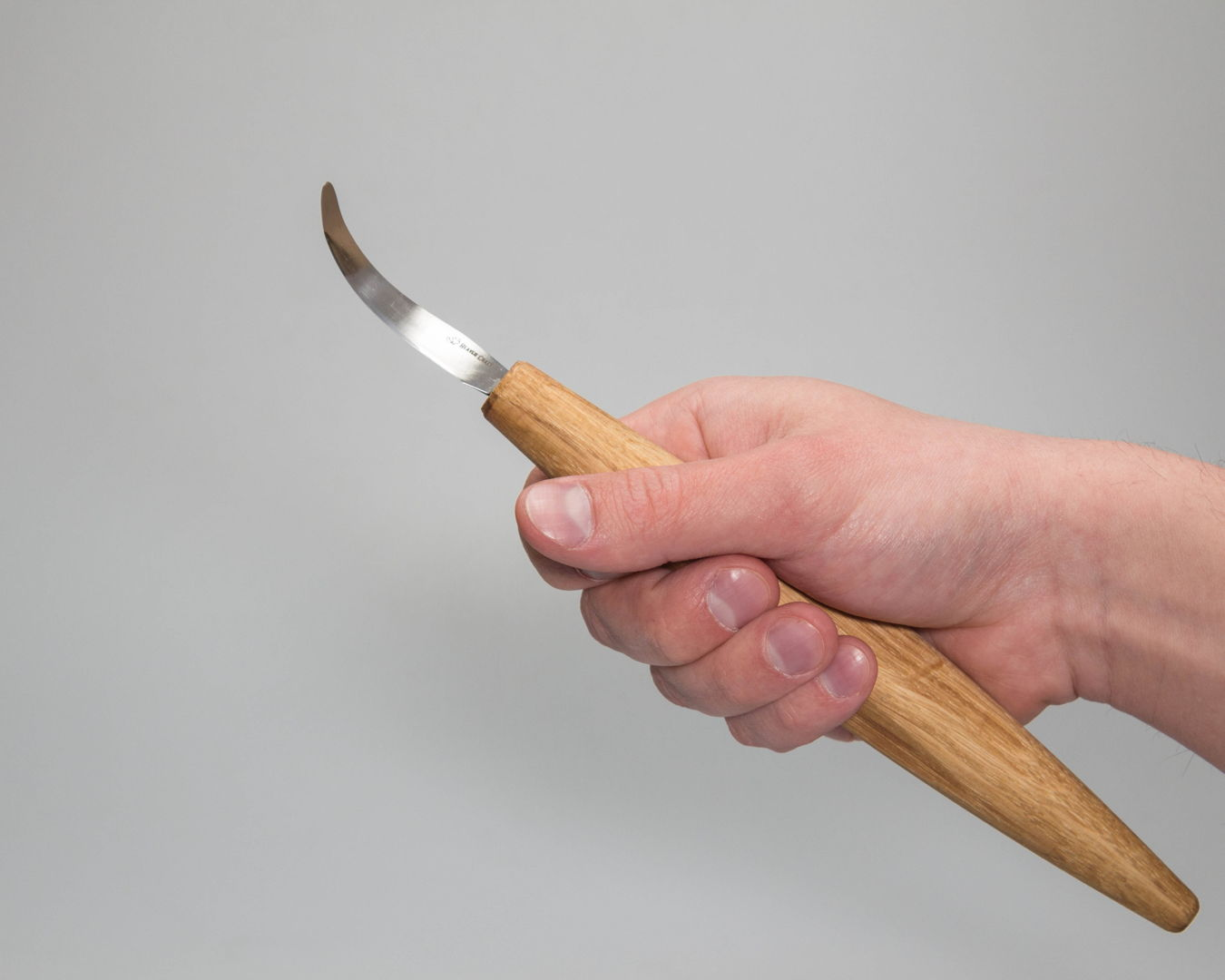 SK4 – Spoon Carving Knife Open Curve Oak Handle – Beaver