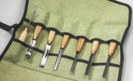 Набор компактных стамесок для резьбы по дереву BeaverCraft SC03. Инструмент для резьбы по дереву в Украине.